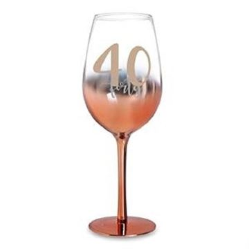 Picture of 40 rose gold wine glass