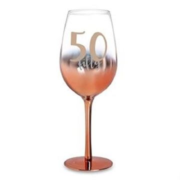 Picture of 50 rose gold wine glass