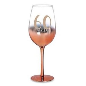 Picture of 60 rose gold wine glass