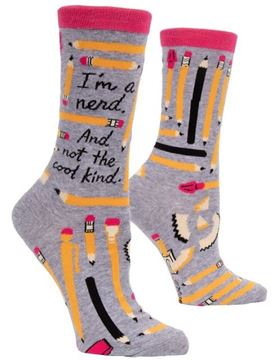 Picture of Womens im a nerd socks