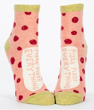 Picture of Womens ankle pizza socks