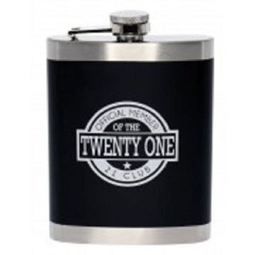 Picture of 21st hip flask