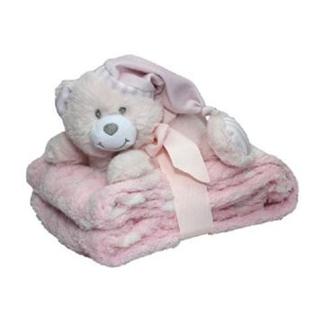 Picture of Snuggles pink baby bear