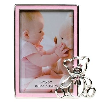Picture of Baby frame bear pink