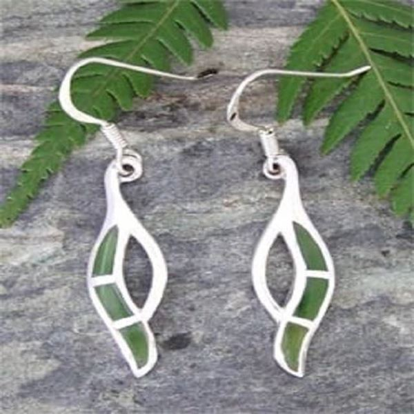 Picture of Greenstone silv drop earring