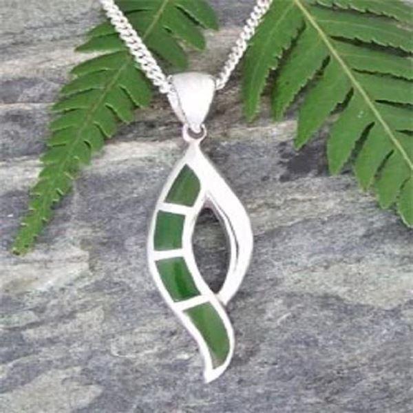 Picture of Greenstone silver pendant