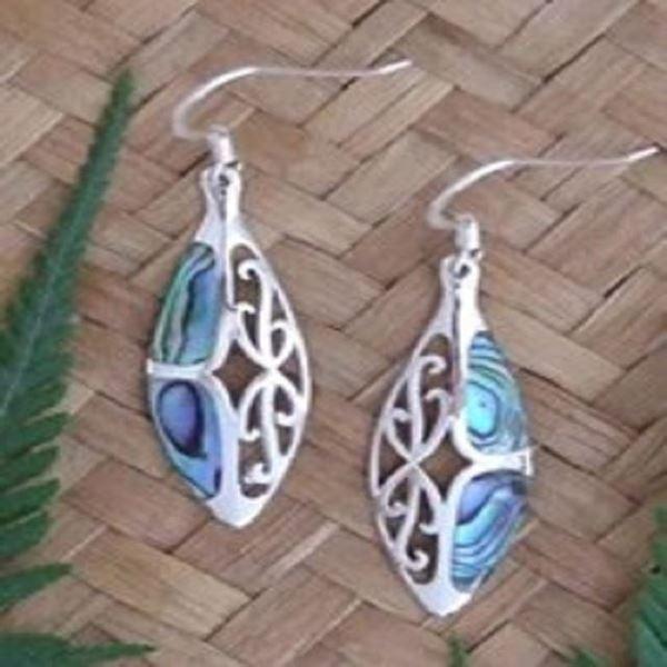 Picture of Monach silver paua earrings