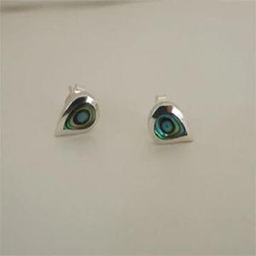Picture of S/S paua teardrop stud earring