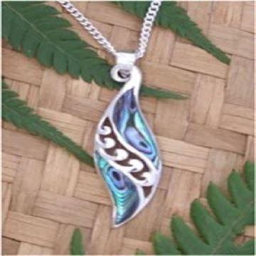 Picture of Paua silver pendant