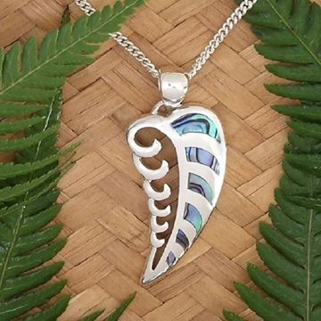 Picture of S/S wave frond pendant