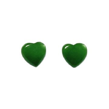 Picture of Jade studs hearts