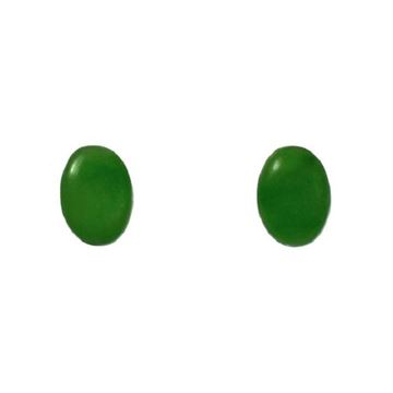 Picture of Jade studs oval