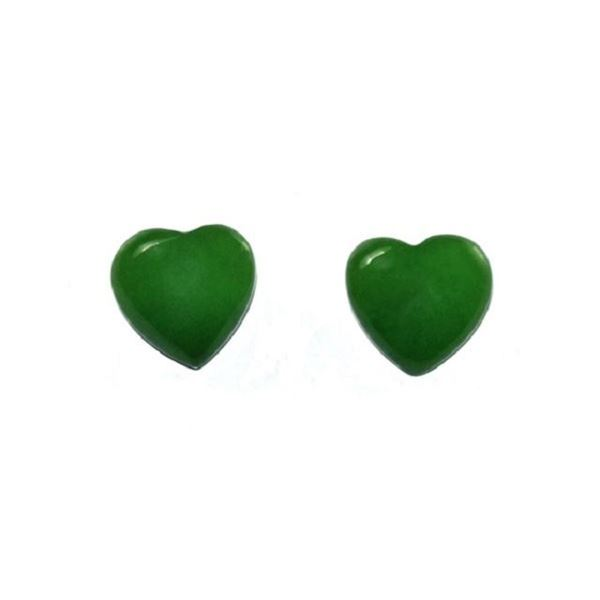 Picture of Jade studs heart