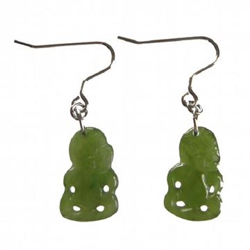 Picture of Jade tiki earrings