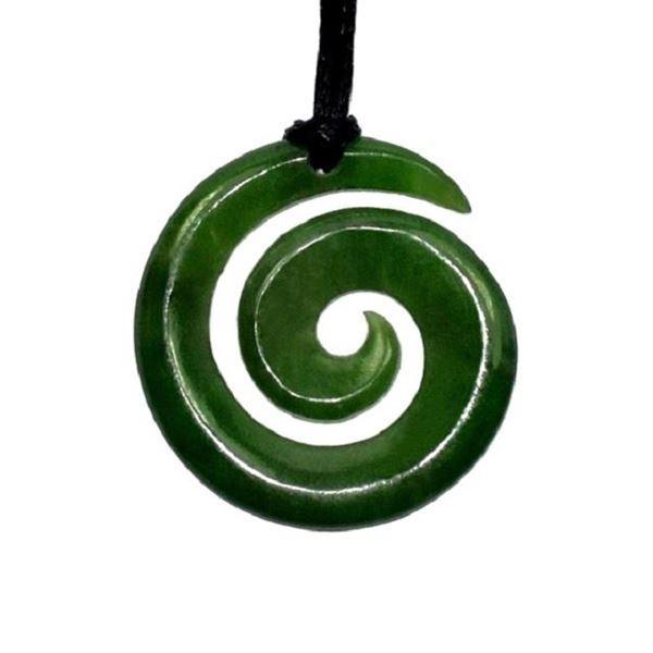 Picture of Jade pendant koru