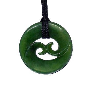 Picture of Jade pendant double koru