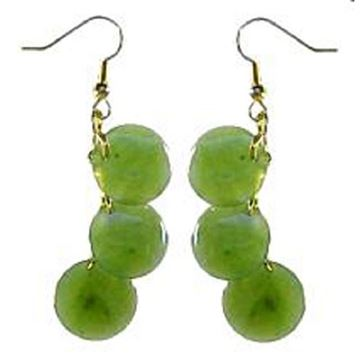 Picture of Jade earrings round