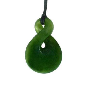 Picture of Jade pendant twist single