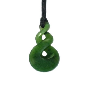 Picture of Jade double twist pendant