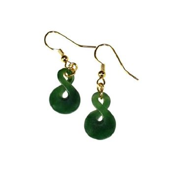 Picture of Earrings jade sml twist