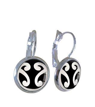 Picture of Silver dbl koru earring