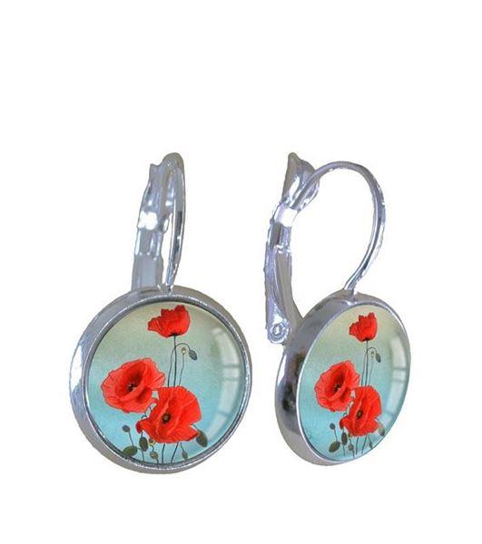 Picture of Pretty poppy earrings