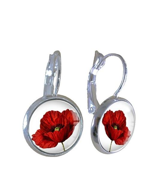 Picture of Poppy on white earrings