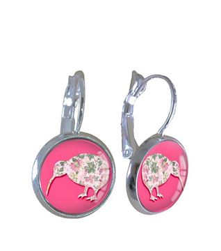 Picture of Pink kiwi earrings