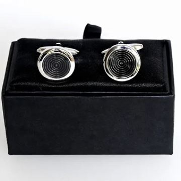 Picture of Black circle cuff links