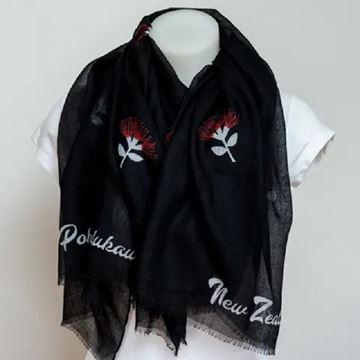 Picture of Pohutukawa black scarf