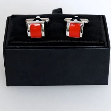 Picture of Red square cufflink