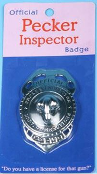 Picture of Pecker inspector badge
