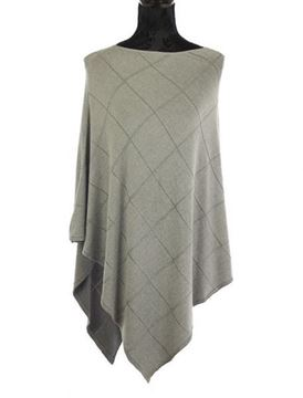 Picture of Grey bias cut poncho
