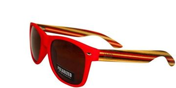 Picture of Sunnies red with striped arms