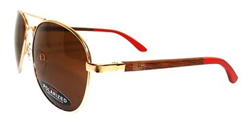 Picture of Sunnies w/brown lens red arms