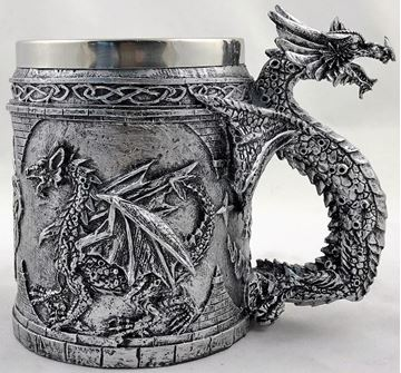 Picture of Dragon mug silver