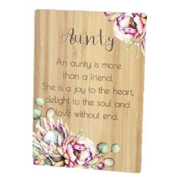 Picture of Aunty bunch of joy plaque