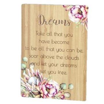 Picture of Dreams bunch of joy plaque