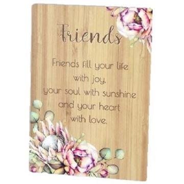 Picture of Friends bunch of joy plaque