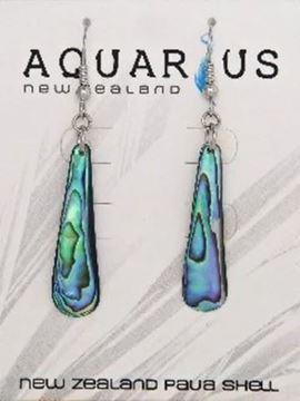 Picture of Paua teardrop hook earrings
