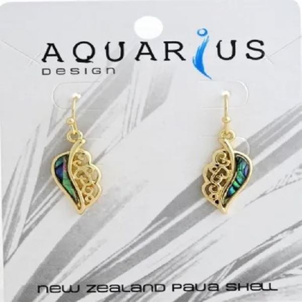 Picture of Gold paua leaf er