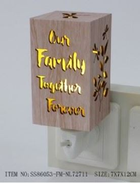 Picture of Family wood night light