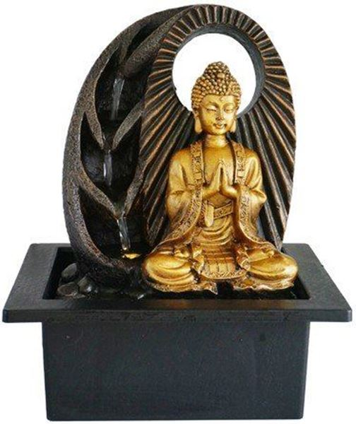 Picture of Water fountain buddha gold