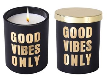 Picture of Candle good vibes black 10cm