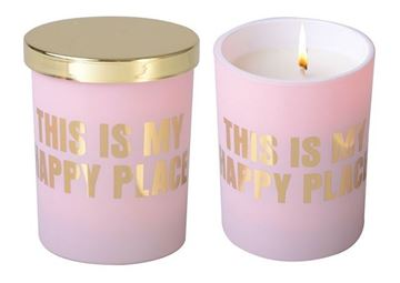 Picture of Candle happy place pink 10cm