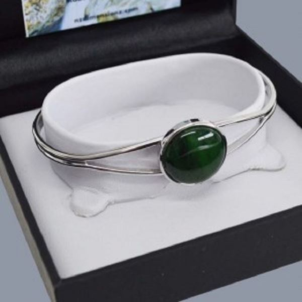 Picture of G/stone silver round bangle