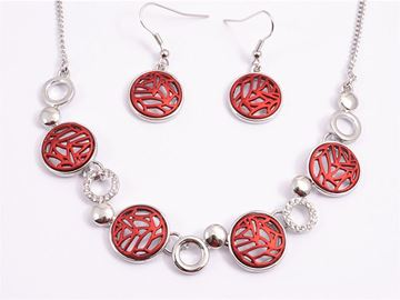 Picture of Red beads necklace set