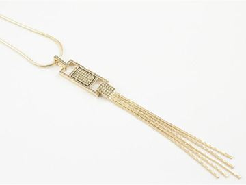 Picture of Champagne gold long necklace