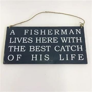 Picture of Sign a fisherman