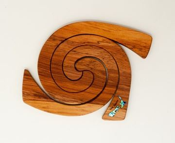 Picture of 3 in1 tablemat nz paua rimu
